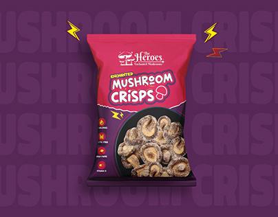 Mushroom Crisps Packaging