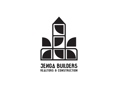 Jenga Builders - Real Estate Logo Design