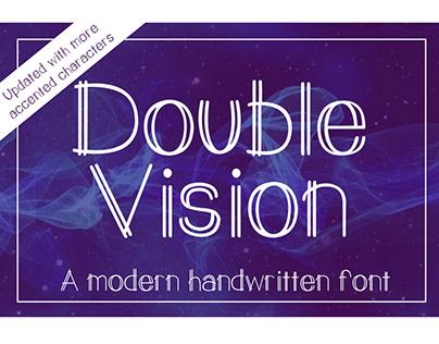 Double Vision - A Modern Handwritten Font