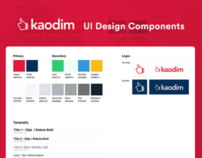 Kaodim UI Design Components
