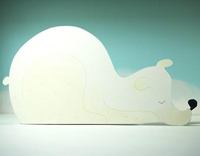 Paper art polar bear