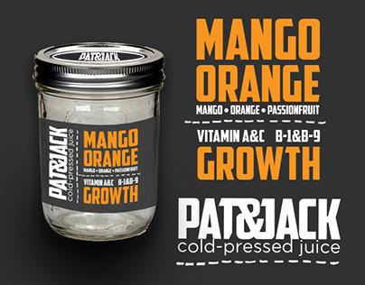 Pat & Jack: Cold Pressed Juice Branding & Packaging