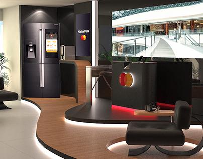Criação showroom - recepção MasterCard