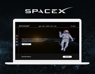 SpaceX Website Redesign | Rish Designs
