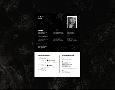 CV / Résumé || Isabella Louise
