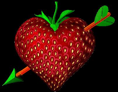 Valentine's Strawberry Heart Jewels