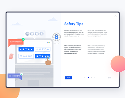 Safety Tips - Onboarding UX