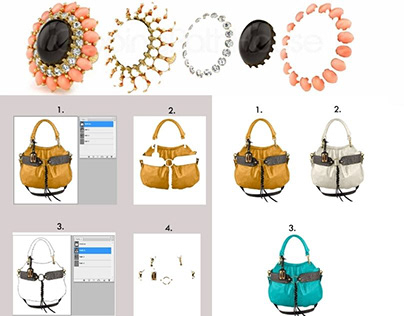 Multi Clipping path - Color path by Photoshop