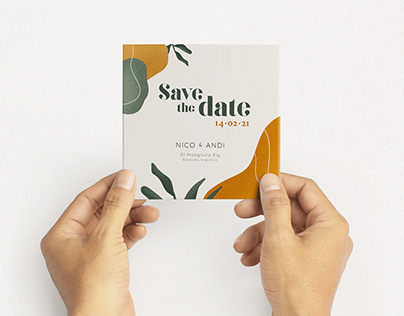 Save the date - Wedding card