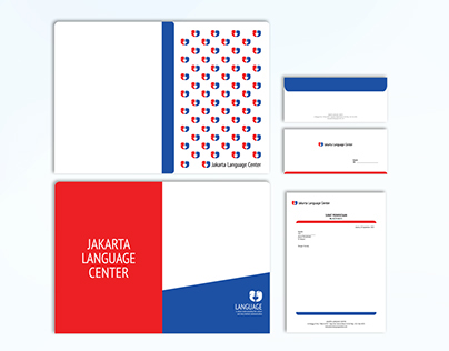 Jakarta Language Center Logo & Corp Item