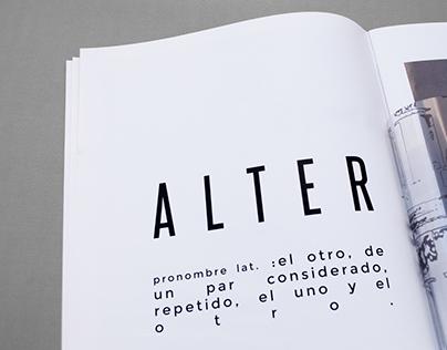 A L T E R Lookbook - Editorial layout
