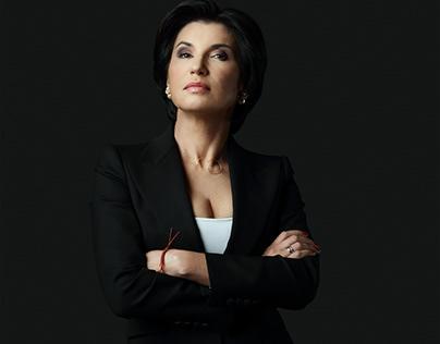 Portrait of TV presenter Irada Zeinalova