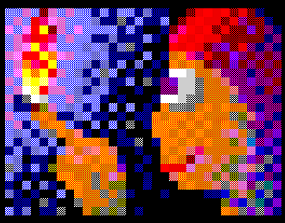 Fire - 53c attribute graphics for zx-spectrum