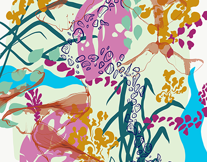 Floral illustrations sketchbook