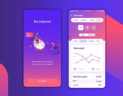 Masrouf App UI/UX Design.