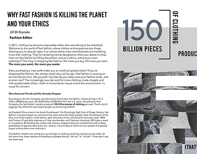Fast Fashion Article Design
