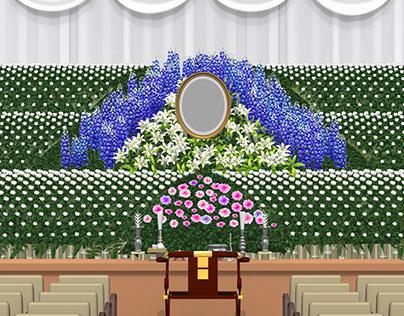 Japanese flower altar