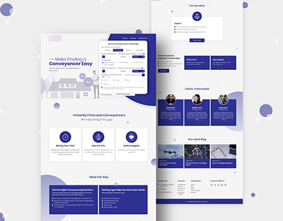 Website Landing Page UI Design | Conveyancer Easy