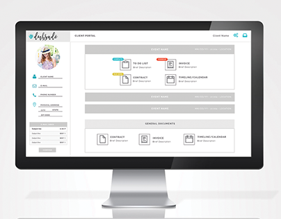 Client Portal UI/UX Design