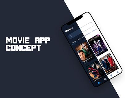 Movie app design concept
