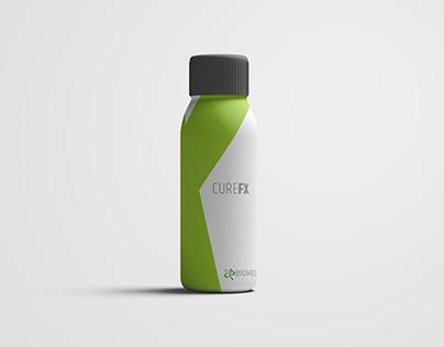 Biomed Excellent Logo & CureFx medicine box design