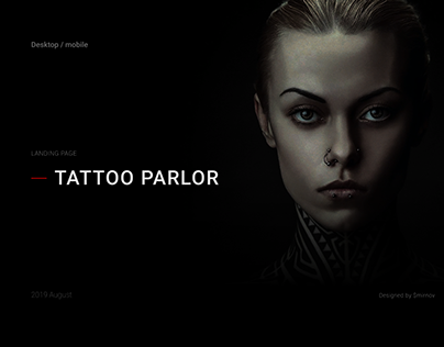 Tattoo parlor - landing page