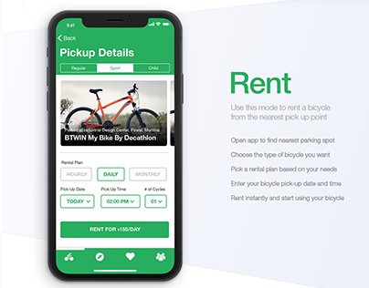 Cyclo - Bicycle Rental Service for Mumbai (UI Design)