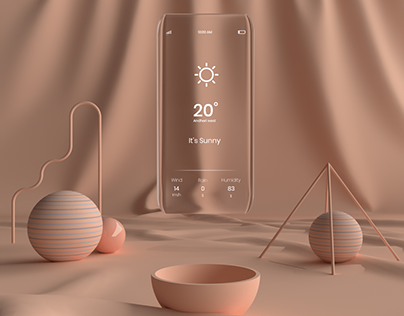 3d inspired weather screens