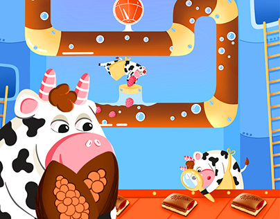 SWEET WONDERLAND. Illustrations for Milka