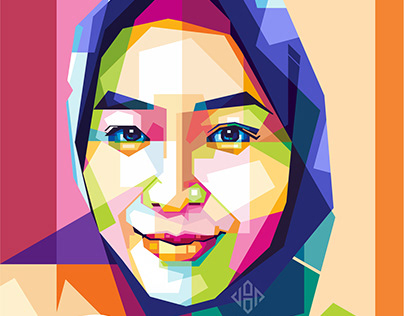 Illustration of woman's face in wpap art