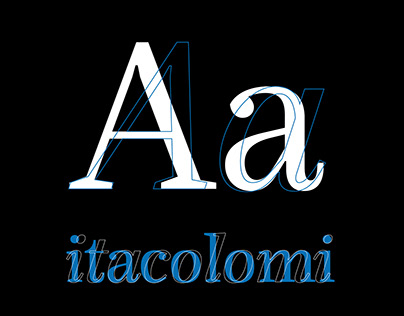 Itacolomi – New Font