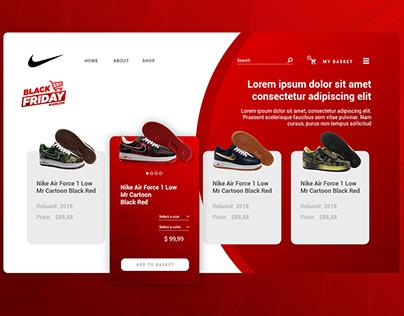 Website UX/UI - Nike Air Force