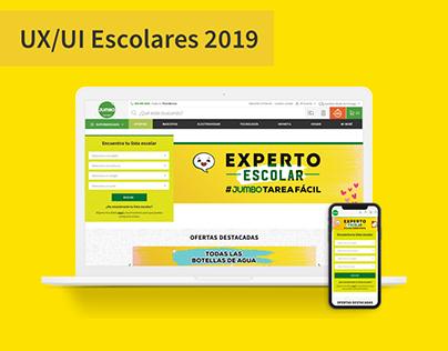 UX/UI Escolares 2019 - Jumbo.cl