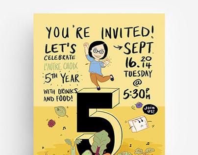 L'Autre Choix Anniversary Flyer