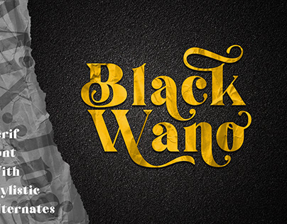 Black Wano is a retro soft serif typeface