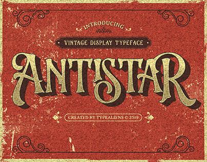 Antistar Vintage Display Typeface