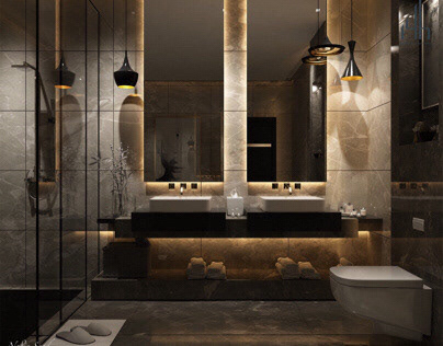 Modern bathroom design in KSA