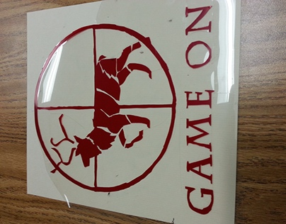 """Game On"" Rubylith and Print"