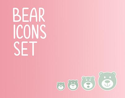 Bear - icons set for Instagram