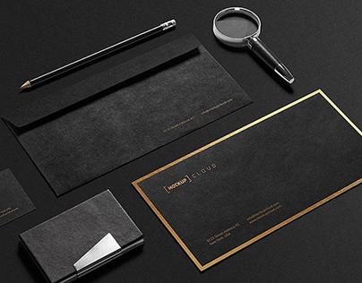 Premium Stationery Mockup By:Mockup Cloud
