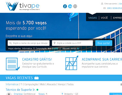 Site - Tivape | Jobs for TI
