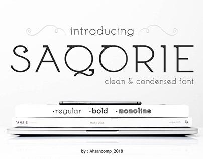 FREE | Saqorie Clean & Condensed Font