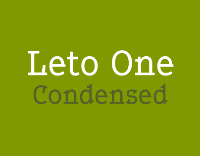 Leto One Condensed