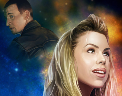 Doctor Who fan art - Rose and The Doctor