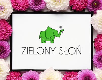 Conceptual logo of floristic company Zielony Słoń