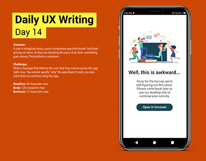 Daily UX Writing Challenge: Day 14
