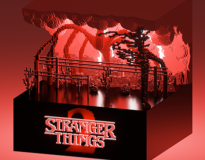 Stranger Things Season 2 - Voxel Art
