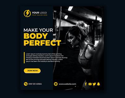 Social Media Fitness Banner