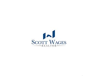 Minimal and Monogram styled logo design for Scott Wages