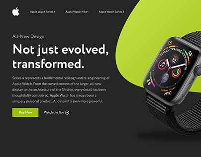 Apple's Watch Series 4 Landing page